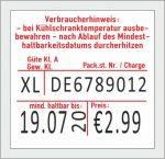 29x28 mm Etiketten für Eierkartons