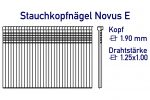 Abmessung Nägel Novus E