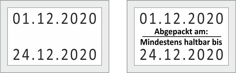 Preisauszeichner Blitz C20 Datum - Abdruck Etikette