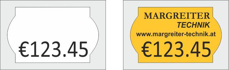 Preisauszeichner Blitz S6 - Etiketten Abdruck