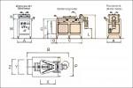 Elektrische Abrollmarkiermaschine AM76E - Technische Zeichnung