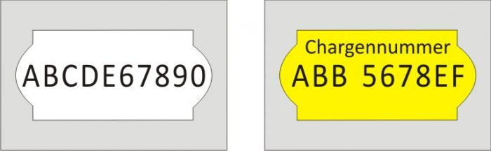 Abdruckbeispiel - Preisauszeichner Blitz C10/A