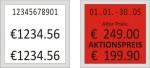 Abdruckbeispiel - Preisauszeichner Blitz T177