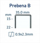 Heftklammer-Abmessung-Prebena B