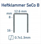 Heftklammer-SeCo-B-Abmessung