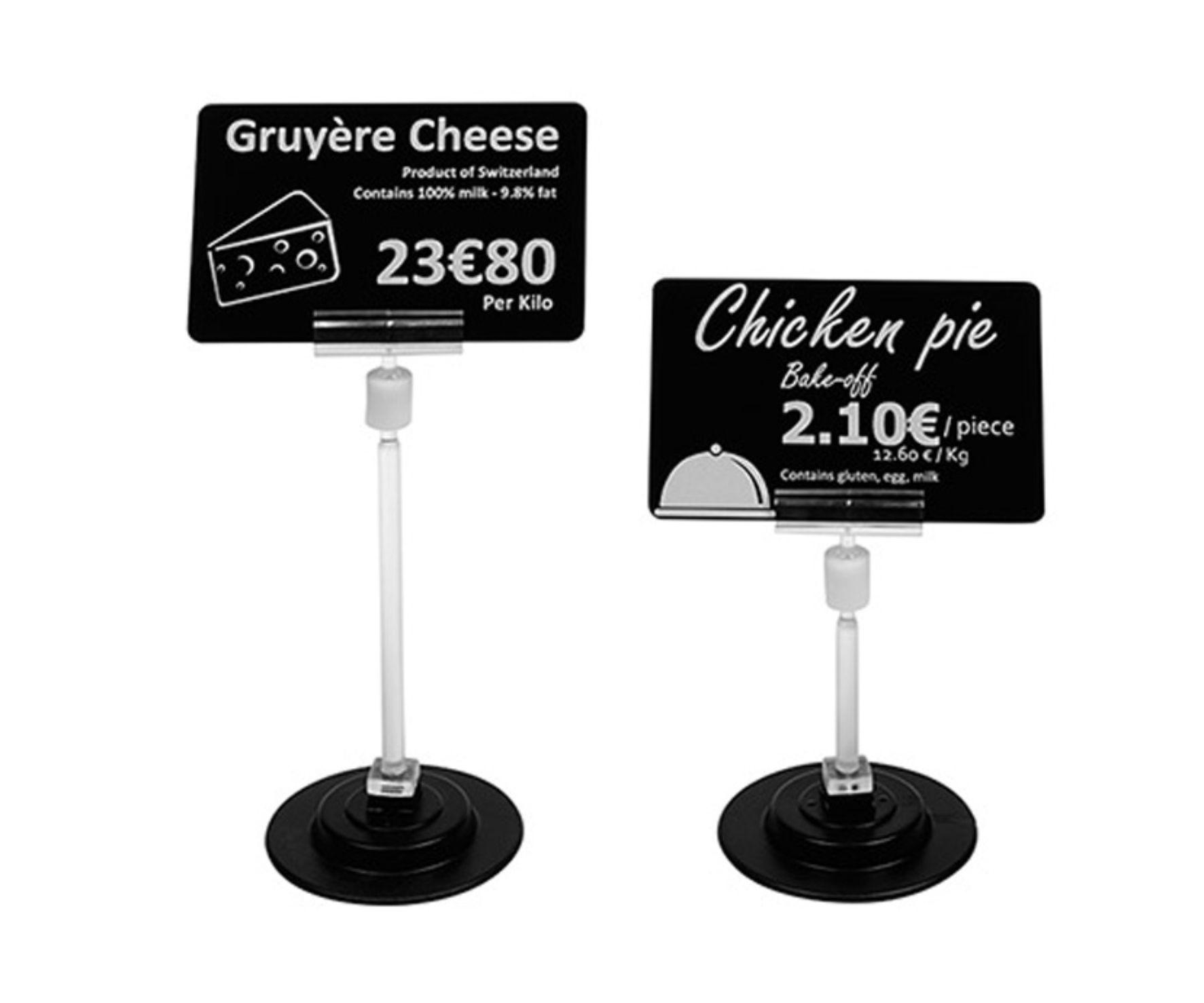 Plastikkartenhalter Preisschilder